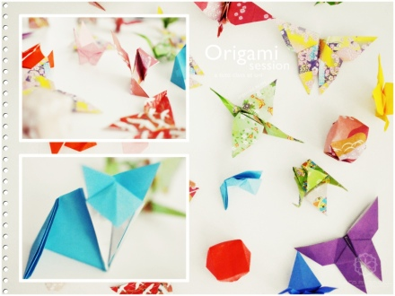 some of the origami pieces during my origami night.