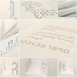 TYPEFACE DEVELOPMENT: booklet