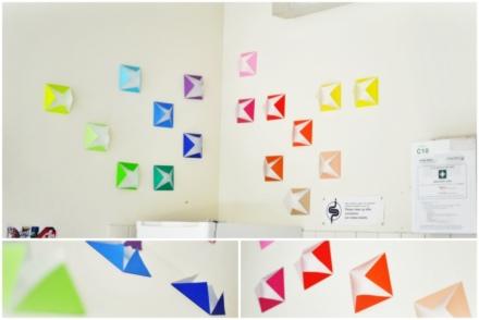 origami decoration at uni