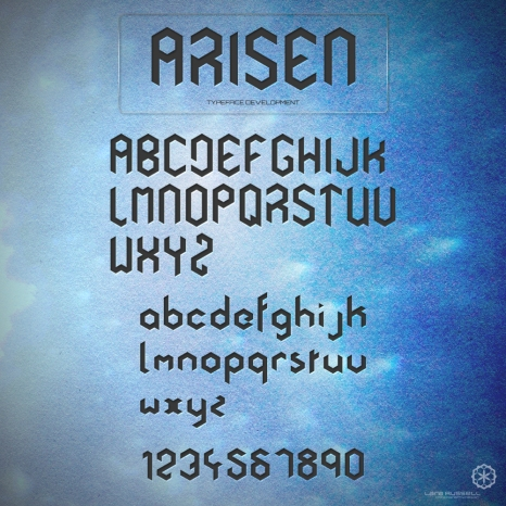 TYPEFACE DEVELOPMENT: upper/loower case + numbers