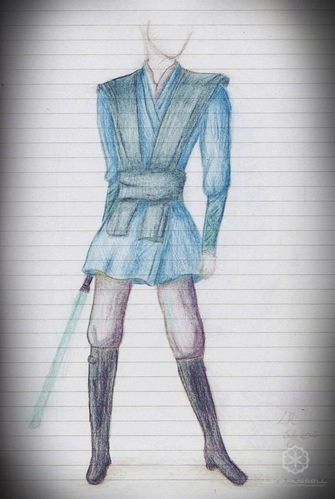 Jedi Outfit Sketch Larajrussell