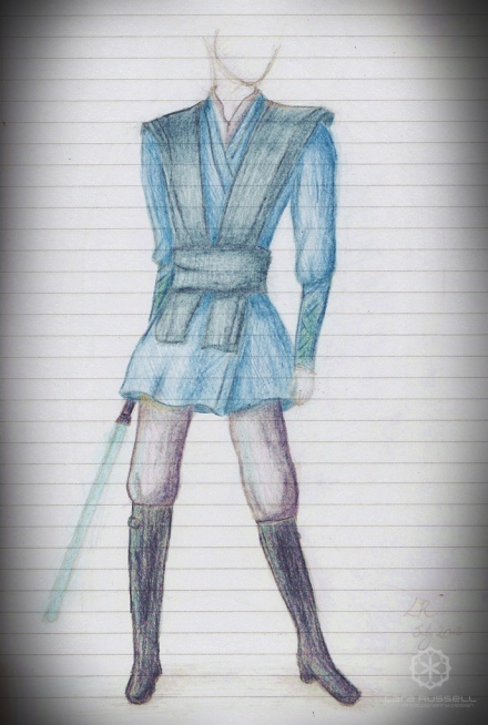 jedi-like outfit... in hues of blue