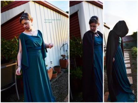 grecian dress and cape