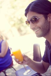 Look who it is again! Ajit enjoying some ice cold orange juice!