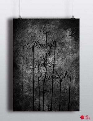 Poster_almost is never enough_renderblack