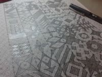 Initial drawings on geo grid