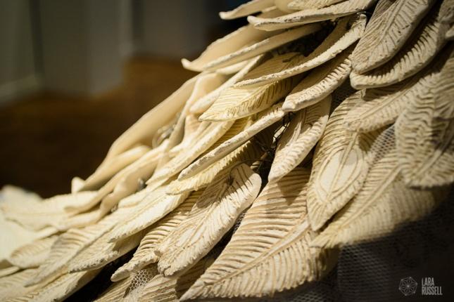 Ceramic feather veil