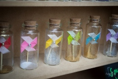 Mini Pinwheel in bottle.