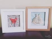 NEW. Origami artwork in frame.