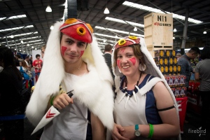 A guy dressed as Princess Mononoke that I got a photo with.