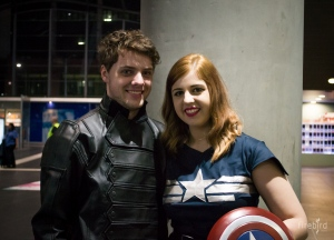 Sister and her boyfriend as Capt. America and the Winter Soldier.